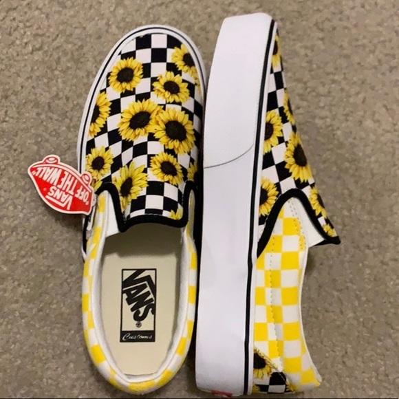 Vans Shoes | Custom Slip On Checkered